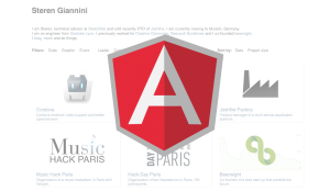 portfolio made with AngularJS