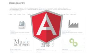 portfolio made with AngularJS