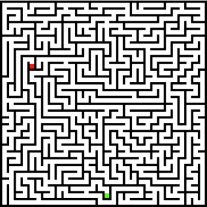 An example of generated maze.
