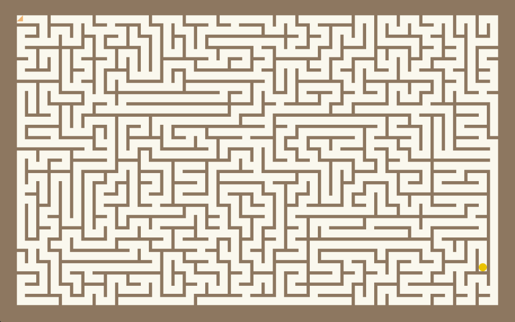 Screenshot of the maze generator app.