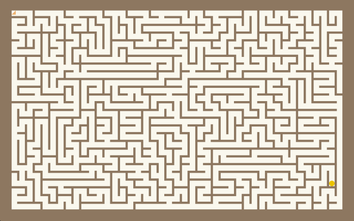 Screenshot of the maze generator app.