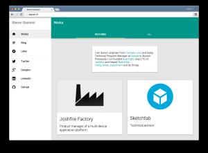 Polymer portfolio desktop